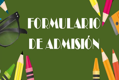 Formulario de admisión
